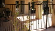 add an arched decorative gate